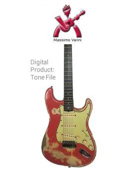 Massimo Varini - Fender Stratocaster Fiesta Red 1963 - 5Pos - Digital tone based on